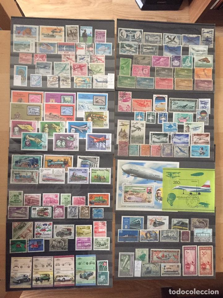 COLECCIÓN LOTE 136 SELLOS Y 3 HB DE AVIONES Y OTROS TRANSPORTES.VER 10 FOTOS (Sellos - Temáticas - Aviones)
