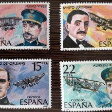 Sellos: PIONEROS DE LA AVIACION - 1980. Lote 222641248