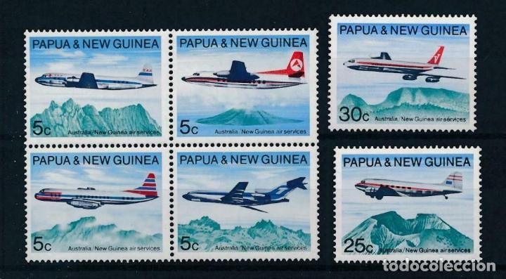 PAPÚA & NUEVA GUINEA 1970 IVERT 178/83 *** SERVICIO POSTAL AÉREO AUSTRALIA Y PAPÚA - AVIONES (Sellos - Temáticas - Aviones)