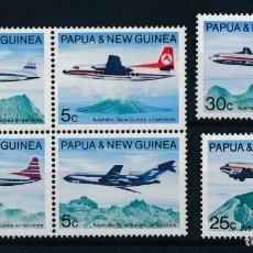 Sellos: PAPÚA & NUEVA GUINEA 1970 IVERT 178/83 *** SERVICIO POSTAL AÉREO AUSTRALIA Y PAPÚA - AVIONES. Lote 223952168