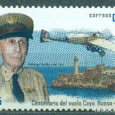 Sellos: 5703 CUBA 2013 MNH THE 100TH ANNIVERSARY OF THE FIRST FLIGHT FROM KEY WEST TO HAVANA. Lote 228164835