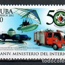 Sellos: 5513 CUBA 2011 MNH THE 50TH ANNIVERSARY OF THE MINISTRY OF INTERIOR. Lote 228165020