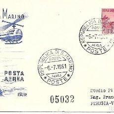 Sellos: HELICOPTERO. SPD. SAN MARINO 1961. Lote 228871400