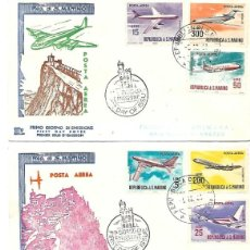 Sellos: AVIONES DE LINEA MODERNA. 5 SPD. SAN MARINO 1963/65. Lote 228873385