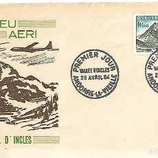 Sellos: CORREO AEREO. VALL D´INCLES. SPD. ANDORRA LA VELLA 1964. Lote 228874885