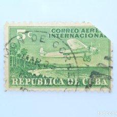 Sellos: SELLO POSTAL CUBA 1931, 5 ¢, AVION C.A.I. 5, USADO. Lote 230229295
