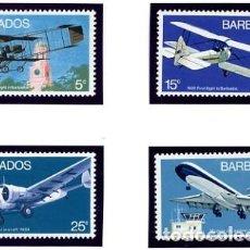 Sellos: BARBADOS - 1973 - TEMATICA AVIONES - SERIE DE 4 VALORES - NUEVOS - YVERT 361/64. Lote 231238755