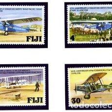 Sellos: FIJI - 1978 - SERIE COMPLETA NUEVA - TEMA AVIONES - YVERT 377/80 - ANIVERSARIO AVIACION. Lote 231245365