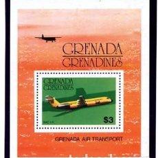 Sellos: GRENADA - TEMA AVIONES - HB NUEVA. Lote 231249990