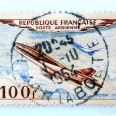 Sellos: SELLO POSTAL FRANCIA 1954, 100 F ,AVION MISTERIO IV ,SADO. Lote 231379590