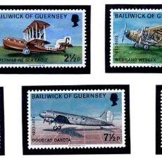 Sellos: BAILIWICK OF GUERNSEY - TEMA AVIONES - 1973 - NUEVOS. Lote 231441230