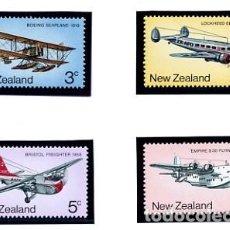 Sellos: NUEVA ZELANDA 1974 YVERT 611/14 - TEMA AVIONES - NUEVOS. Lote 231448910