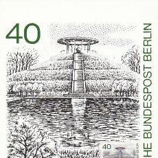Francobolli: ALEMANIA BERLIN IVERT 595, MONUMENTO A OTTO LILIENTHAL (AVIADOR) EN BERLIN TARJETA MÁXIMA 13-11-1980. Lote 232487511
