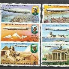 Sellos: 8511C-2 SERIES COMPLETAS 1976 CORREO AEREO Y ORDINARO MADAGASCAR ZEPPELIN. REPUBLICA MALAGASY. Nº58. Lote 233899070