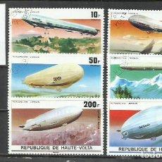 Sellos: 8511A-2 SERIES COMPLETAS 1976 CORREO AEREO Y ORDINARO ALTO VOLTA , HAUTE VOLTA ZEPPELIN. BONITOS ,A. Lote 233900485