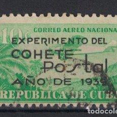 Sellos: 162-3 CUBA 1939 U EXPERIMENTAL ROCKET POST OVERPRINTED. Lote 236770535
