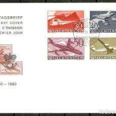 Sellos: LIECHTENSTEIN.1960. FDC. 30 ANIVERSARIO DEL CORREO AÉREO. AVIÓN. Lote 236923880