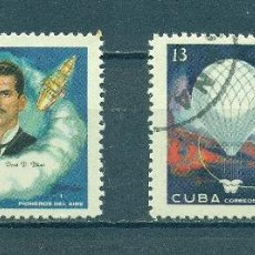 Sellos: CUBA 1970 THE AVIATION PIONEERS U - SPACE, BALLOONS, AVIATION. Lote 241340195