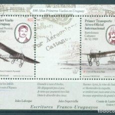 Sellos: URUGUAY 2010 AVIATION PIONEERS MNH - AIRCRAFT. Lote 241344835
