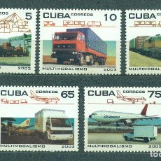 Sellos: CUBA 2003 TRANSPORT MNH - CARS, AIRCRAFT, TRUCKS, TRANSPORT, THE TRAINS, LOCOMOTIVES. Lote 241347365