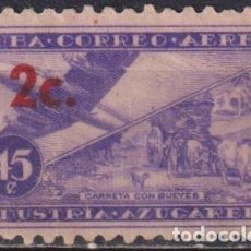 Sellos: CUBA 1960 AIRMAIL - PREVIOUS ISSUES SURCHARGED NG - AVIATION, AIRCRAFT. Lote 241351050