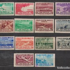 Sellos: CUBA 1936 OPENING OF THE FREE ZONE OF THE PORT OF MATANZAS - NO PERFORATION NG - SHIPS, PAINTINGS. Lote 241634310