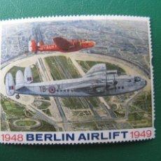 Sellos: BERLIN AIRLIFT, SELLO VIÑETA NUEVO SIN GOMA. Lote 243430660