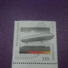Sellos: SELLO ALEMANIA R FEDERAL NUEVO/2000/CENT/1/VUELO/ZEPPELIN/DIRIGIBLE/GLOBO/TRANSPORTE/AVIACION/. Lote 244451535