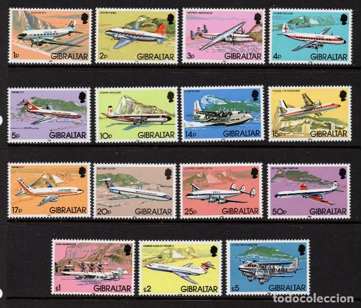 GIBRALTAR 439/53** - AÑO 1982 - AVIONES E HIDROAVIONES (Sellos - Temáticas - Aviones)