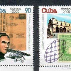 Sellos: ⚡ DISCOUNT CUBA 2000 STAMP DAY MNH - STAMPS ON STAMPS, AIRCRAFT. Lote 253847380