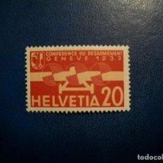 Timbres: LIQUIDACION-SUIZA-1932-20 C. EN NUEVO CON CHARNEAL(**MLH)-AVIONES. Lote 254064825