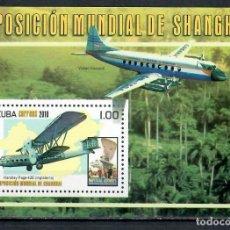Sellos: ⚡ DISCOUNT CUBA 2010 WORLD EXPO 2010 - SHANGHAI, CHINA MNH - AVIATION, AIRCRAFT. Lote 255624845