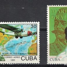 Sellos: ⚡ DISCOUNT CUBA 1993 THE 60TH ANNIVERSARY OF THE SEVILLE, SPAIN, -CAMAGUEY, CUBA, FLIGHT BY MA. Lote 255627115