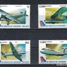 Sellos: ⚡ DISCOUNT CUBA 2009 THE 80TH ANNIVERSARY OF THE CUBANA DE AVIACI?N MNH - AIRCRAFT. Lote 255629500