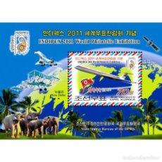 Sellos: ⚡ DISCOUNT KOREA 2011 INDIPEX 2011 WORLD PHILATELIC EXHIBITION MNH - AIRCRAFT. Lote 255631405