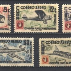 Sellos: ⚡ DISCOUNT CUBA 1955 AIRMAIL - THE INTERNATIONAL PHILATELIC EXHIBITION, HAVANA - AIRPLANES & A. Lote 255657955