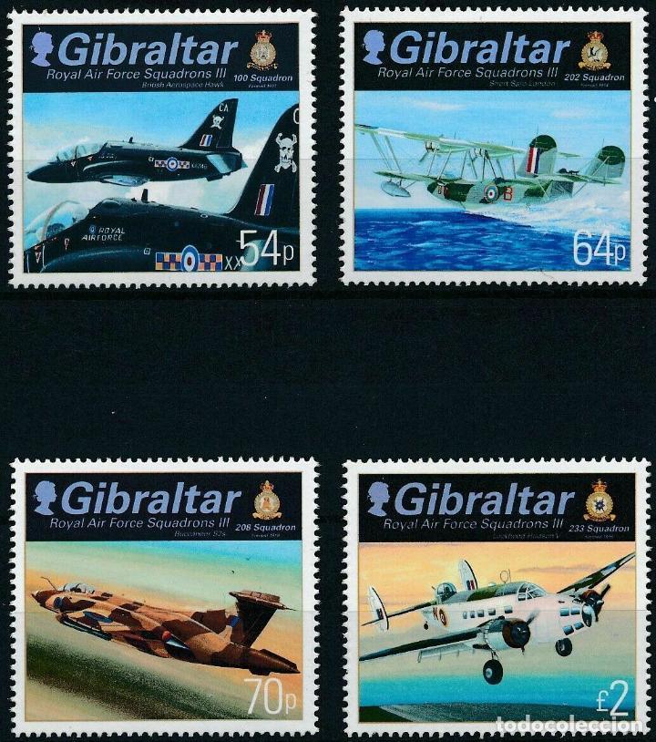 GIBRALTAR 2014 IVERT 1644/7 *** ESCUADRONES DE LA ROYAL AIR FORCE - AVIONES (Sellos - Temáticas - Aviones)