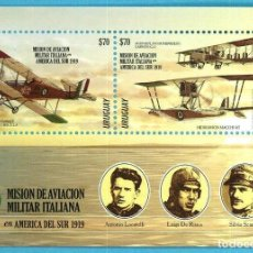 Sellos: ⚡ DISCOUNT URUGUAY 2019 ITALIAN MILITARY AVIATION MISSION IN SOUTH AMERICA MNH - AIRCRAFT, P. Lote 260587490