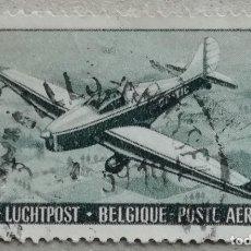 Sellos: 1951. BÉLGICA. A-29. AVIONETA SPORT-TURISMO. 50 ANIVERSARIO DEL REAL AERO CLUB DE BÉLGICA. USADO.. Lote 269471393