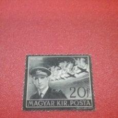 Sellos: SELLO HUNGRÍA (MAGYAR P) MTDO/1941/SIN GOMA/MEMORIA/ALMIRANTE/AVIONES/VUELOS/AVIACION/CABALLOS/MILIT. Lote 270160683