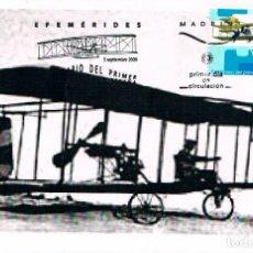 Francobolli: EDIFIL 4503, CENTENARIO PRIMER VUELO A MOTOR, TARJETA MÁXIMA PRIMER DÍA PATERNA (VALENCIA) 7-9-2009. Lote 273722133