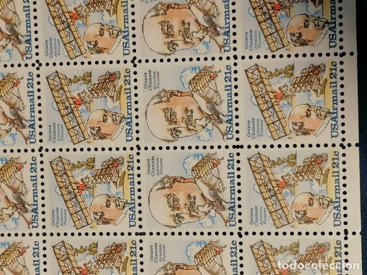 Sellos: Aviones Historia De Ingenieria Octavio Chanute Usa Yvert 87/8 Hoja de 50 sellos - Foto 2 - 275616568