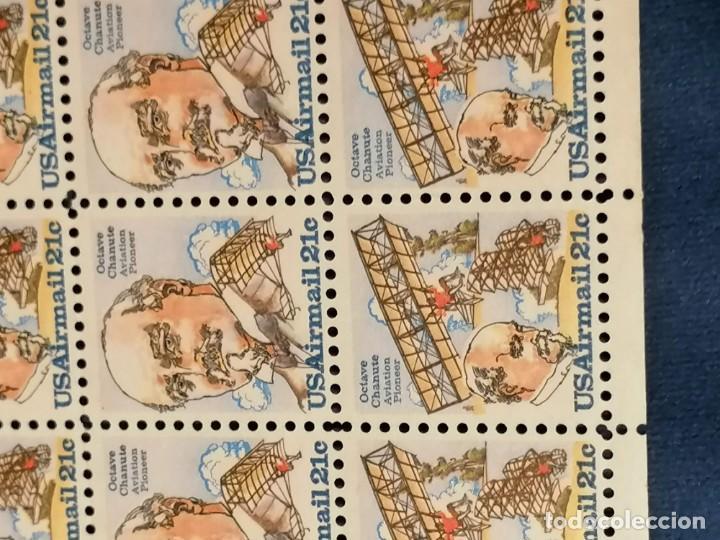 Sellos: Aviones Historia De Ingenieria Octavio Chanute Usa Yvert 87/8 Hoja de 50 sellos - Foto 3 - 275616568