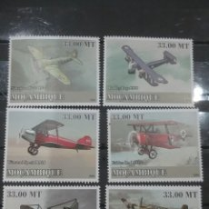 Sellos: SELLO MOZAMBIQUE NUEVOS/2009/TRANSPORTE/HISTORIA/AVIACION/PRIMERA/GUERRA/MUNDIAL/AVIONETA/VUELO/MILI. Lote 276739383