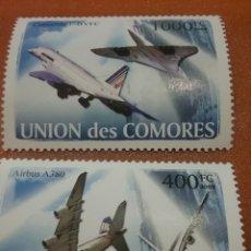 Sellos: SELLO COMORAS (I. COMORES) NUEVO/2008/AVIONES/AVIACION/CONCORDE/AIRBUS/TRANSP/LEER REGALO DESCRIPCI. Lote 276956093