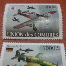 Sellos: SELLO COMORAS (I. COMORES) NUEVO/2008/AVIONES/AVIACION/II/AGUERRA/MUNDIAL/MILI/LEER REGALO DESCRIPCI. Lote 276956253