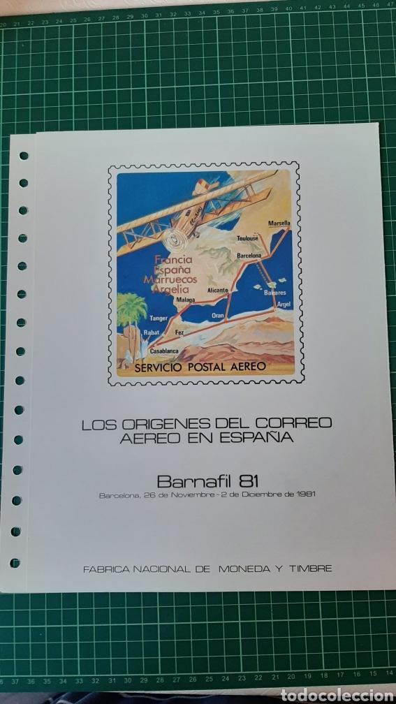 1981 ESPAÑA DOCUMENTO FILATELICO NÚMERO 16 MATASELLO EDIFIL 2635 / 6 CORREO AÉREO (Sellos - Temáticas - Aviones)