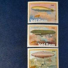 Sellos: VIETNAM ZEPELÍN 1990/**YV.1127/33. Lote 278453403
