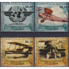 Sellos: ⚡ DISCOUNT SALVADOR 2017 THE HISTORY OF AVIATION MNH - AVIATION, AIRCRAFT. Lote 278522248