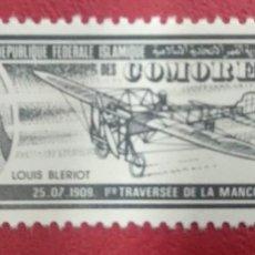 Sellos: REPUBLIQUE FEDERALE ISLAMIQUE DES COMORES. LOUIS BLERIOT.. Lote 288227203